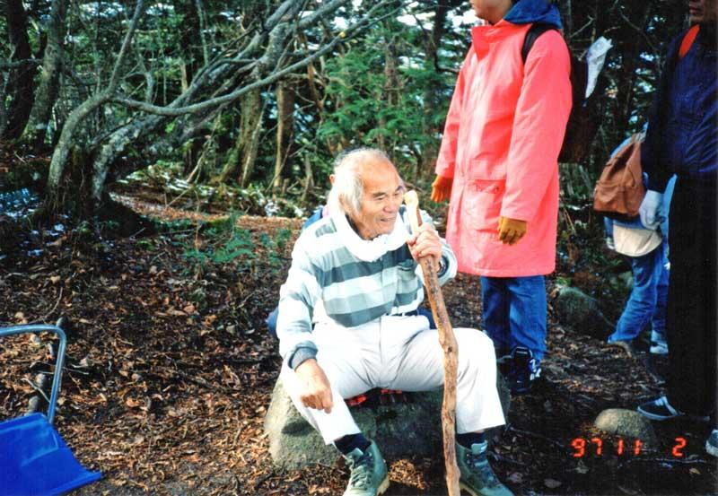 位山講習会での山本健造(1997.11.2)